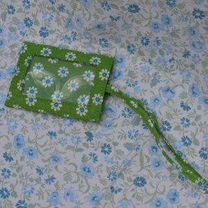 Vera Bradley Apple Green Luggage Tag Travel Floral